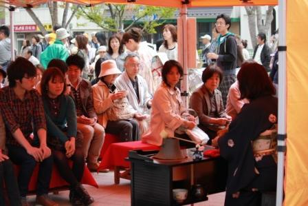 花フェスタ2011善光寺花回廊―花回廊野点茶会―