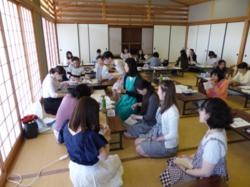 夏用の古帛紗作り講習会