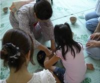 裾花中学校和菓子作り講習会