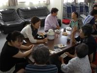 長野県栄村慰問呈茶