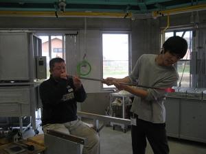 第1回教養講座 吹きガラス作品制作